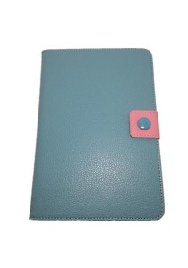 Leather Case with Stand for iPad Mini (Blue/Pink)