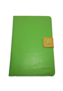 Leather Case with Stand for iPad Mini (Green/Yellow)