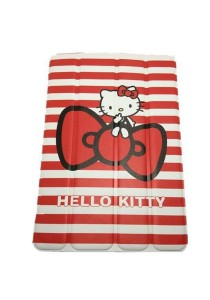 Hello Kitty Leather Case with Stand for iPad Mini (Red)