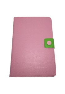 Leather Case with Stand for iPad Mini (Pink/Green)