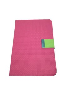 Leather Case with Stand for iPad Mini (Pink and Green)