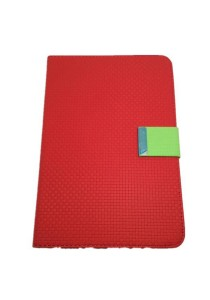 Leather Case with Stand for iPad Mini (Red and Green)
