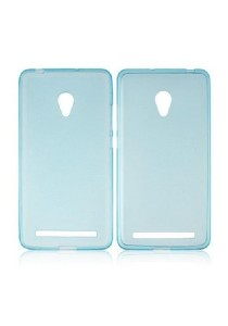 Asus Zenfone 6 Ultra Thin Frosted Transparent Back Cover Case (Blue)