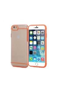 """Apple iPhone 6/6S 4.7"""" Slim-Fit Transparent Hybrid Case (Orange)"""