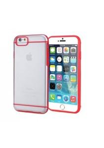 "Apple iPhone 6/6S 4.7"" Slim-Fit Transparent Hybrid Case (Red)"