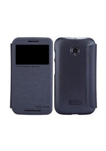 (Genuine) Nillkin Sparkle Series Protective Side Flip Case for Motorola Moto E (Black)