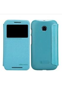 (Genuine) Nillkin Sparkle Series Protective Side Flip Case for Motorola Moto E (Blue)