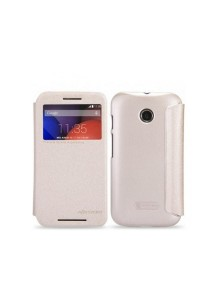 (Genuine) Nillkin Sparkle Series Protective Side Flip Case for Motorola Moto E (Gold)