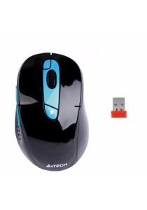A4TECH Li-Battery V-Track Wireless Mouse (Black-Blue) G11-570FX