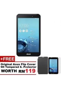 Asus Fonepad 7 FE170CG 8G Dual SIM (Blue) + Original Asus Flip Cover (Random Color) + 9H Tempered Glass Screen Protector