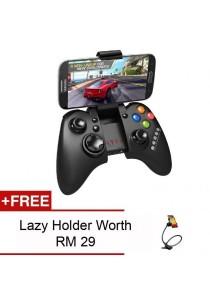 Ipega 9021 Universal Bluetooth Game Pad (Multiple Compatibility) (Black) + Free Lazy Holder