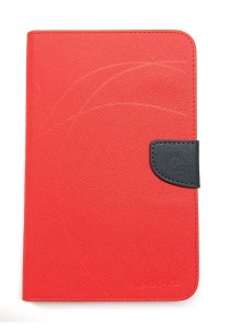 Lenovo Ideatab A1000 Mercury Leather Flip Case (Red)