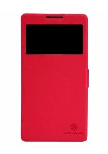 (Original) Nillkin Lenovo A889 Fresh Series Leather Case (Red)