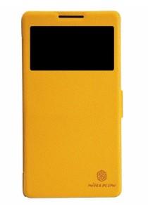 (Original) Nillkin Lenovo A889 Fresh Series Leather Case (Yellow)