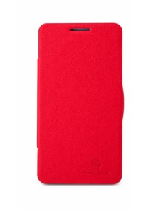 (Original) Nillkin Lenovo P780 Fresh Series Leather Case (Red)