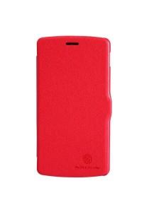 (Original) Nillkin LG Nexus 5 Fresh Series Leather Case (Red)