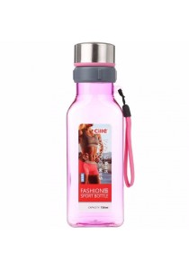 Fashion Sport Square Drinking Water Bottle 720ml (Pink)
