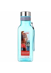 Fashion Sport Square Drinking Water Bottle 1500ml (Blue)
