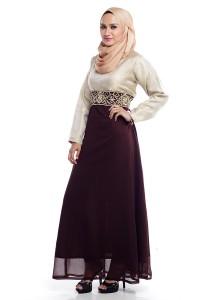 Farha Design Kaela Long Dress - Sadle Brown