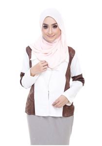 Farha Design Corrine Linen Jacket - Honey Vanilla & Sadle Brown