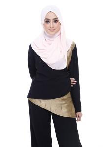 Farha Design Faye Crossover Top - Midnight Black & Vintage Gold