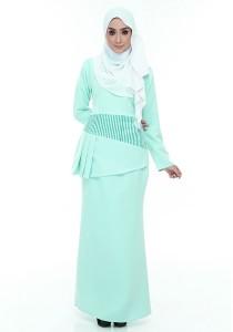 Farha Design Grace Peplum Kurung - Cool Mint Green