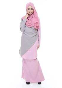 Farha Design Kayra Tunic - Taupe & Dusty Pink