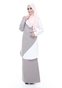 Farha Design Kayra Tunic - Taupe & Ivory White
