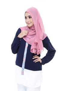 Farha Design Zaephira Button Shirt - Navy, White & Blue Placket Front