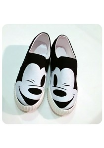Mickey Canvas Shoes (Black)