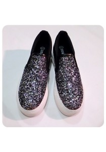 Shinning PU Shoes (Black)