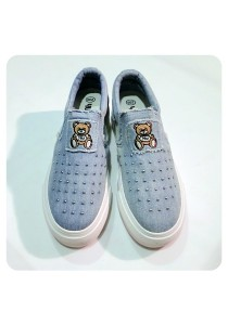 Studded Jeans Canvas Shoes (Light Blue)