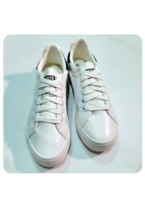 Breathable PU Shoes (White)