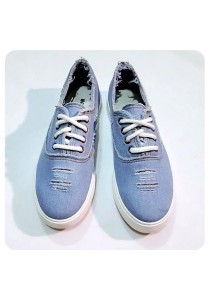 Jeans Canvas Shoes (Light Blue)