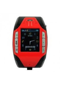F3+ Touch Screen Watch Design Phone With Video Camera Red