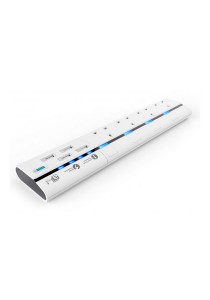 aMagic MagStrip 4 Way Socket Extension Lead Power Strip Surge Protected with 4 USB Port Charger - UK Plug (White)