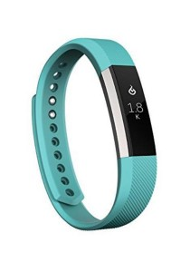 Fitbit Alta Fitness Tracker, Silver/Teal, Large Teal/Silver