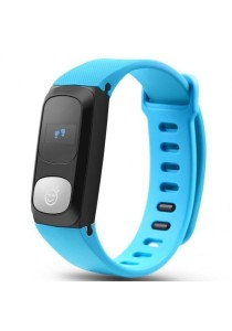 HeHa Qi Waterproof Sport Fitness Bracelet Activity Tracker with Heart Rate Monitor (Blue)
