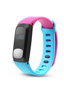 HeHa Qi Bluetooth Heart Rate Monitor Health Fitness Band for Women (Blue/Pink)