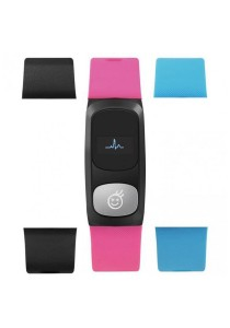 HeHa Bluetooth Heart Rate Monitor Health Fitness Band for Women (Hot Pink)