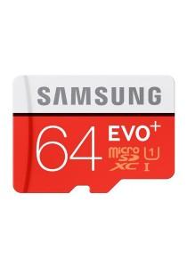 Samsung Memory 64GB Evo Plus MicroSDXC 80 Mb/s UHS-I Grade 1 Class 10 Memory Card - 64GB