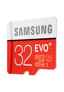 Samsung Memory 32GB Evo Plus MicroSDXC UHS-I Grade 1 Class 10 Memory Card 80Mb/s - MB-MC32D/Red
