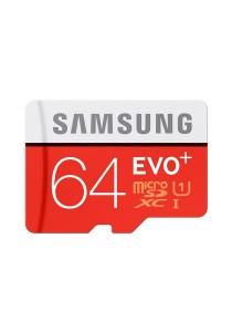 Samsung Memory 64GB Evo Plus MicroSDXC 80 Mb/s UHS-I Grade 1 Class 10 Memory Card - MB-MC64D