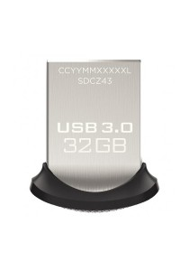 SanDisk Ultra Fit CZ43 32GB USB 3.0 Low-Profile Flash Drive Up To 130MB/s Read