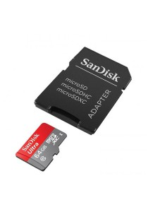 SanDisk Ultra 64GB Ultra Micro SDXC UHS-I/Class 10 Card with Adapter 80 Mb/s (SDSQUNC-064G-GN6MA) [Newest Version]