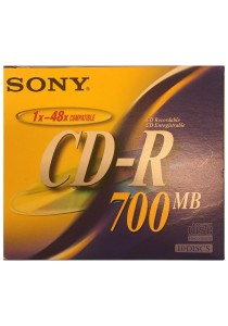 Sony 10 CD-R Case, 80 Min, 700MB (10 Pcs)