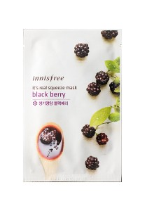 Innisfree It's Real Squeeze Mask - Blackberry (1sheet 20ml)