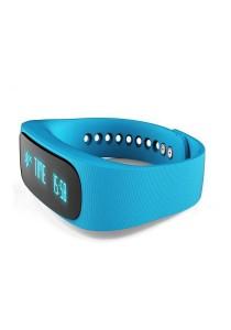 Intelligent Sport Bracelet E02 Healthy Pedometer Watch (Blue)