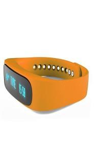 Intelligent Sport Bracelet E02 Healthy Pedometer Watch (Orange)