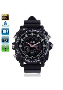 IR Night Vision HD SPY Waterproof Rub Watch 4GB